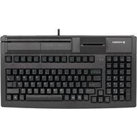 Cherry G80-7040 Series Compact MSR Keyboard - Cable Connectivity - USB 2.0 Interface - 104 Key - English (US) - QWERTY Keys Layout - Mechanical - Black