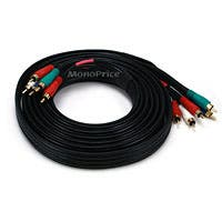 Monoprice 12ft 22AWG 5-RCA Component Video/Audio Coaxial Cable (RG-59/U) - Black