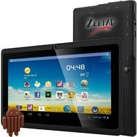 """Zeepad 7DRK-Q 4 GB Tablet - 7"""" - Wireless LAN - Allwinner Cortex A7 A33 Quad-core (4 Core) 1.80 GHz - Black - 512 MB DDR3 SDRAM RAM - Android 4.4 KitKat - Slate - 800 x 480"""