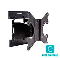 Monoprice Essentials Full-Motion Articulating TV Wall Mount Bracket - For TVs 23in to 42in, Max Weight 66lbs, VESA Patterns Up to 200x200, Works with Concrete & Brick