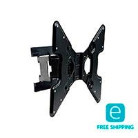 Monoprice Essentials Ultra-Slim Full-Motion Articulating TV Wall Mount Bracket - TVs 32in to 55in, Max Weight 66lbs, Extends from 1.5in to 10.7in, VESA Up to 400x400, Concrete & Brick