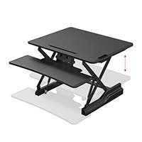 Workstream by Monoprice Full-Size Sit-Stand Workstation Converter, Height Adjustable Desk 30in