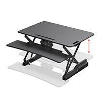Workstream by Monoprice Full-Size Sit-Stand Workstation Converter, Height Adjustable Desk 36in