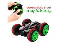 Remote Control Amphibious Off Road Electric Double Sided Car Tank Stunt Car RC