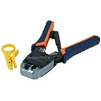 Monoprice Dual-Modular Plug Crimps, Strips, and Cuts Tool with Ratchet
