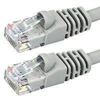Monoprice Cat5e Ethernet Patch Cable - Snagless RJ45, Stranded, 350Mhz, UTP, Pure Bare Copper Wire, 24AWG, 2ft, Gray