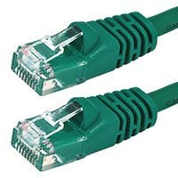 Monoprice Cat5e Ethernet Patch Cable - Snagless RJ45, Stranded, 350Mhz, UTP, Pure Bare Copper Wire, 24AWG, 2ft, Green