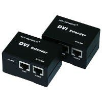 Monoprice DVI Extender using Cat5e cable extending upto 50 Meter Supporting DDC & HDCP (Open Box)