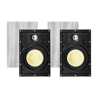 Monoprice Caliber Snap Lock In-Wall Speakers, 6.5in Fiber 2-Way (pair)