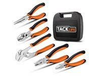 Tacklife 5 Piece Pliers tool Set Multiple Thread Screwing, Portable Carrying Case Included