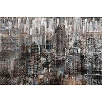 "RAINY CITY ARTIST ENHANCED SILVER CANVAS WALL ART 24""X32"""