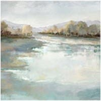 "SERENE LAKE ARTIST ENHANCED WALL ART 24""X24"""