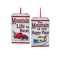 Mountain Life Ornament Set of 2