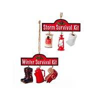 Survival Kit Ornaments Set of 2