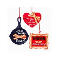 Bacon Lover Ornaments Set of 3