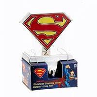 Superman™ Emblem Silver Stocking Hanger