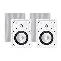 Sycamore by Monoprice Architectural In-Wall Speakers 6.5in 2-way Aluminum with Micro Ceramic Composite Tweeter (Pair)