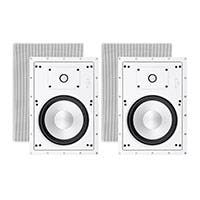 Sycamore by Monoprice Architectural In-Wall Speakers 8in 2-way Aluminum with Micro Ceramic Composite Tweeter (Pair)