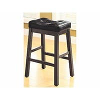 Carbon Collection by Monoprice Juno Counter Stool Black Set of 2