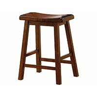 Carbon Collection by Monoprice Wylie Counter Stool Brown Set of 2