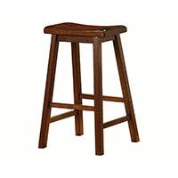 Carbon Collection by Monoprice Wylie Bar Stool Brown Set of 2