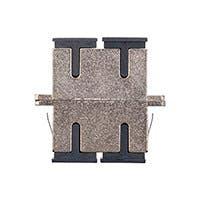 Monoprice SC Duplex Die Cast Metal Fiber Adapter 6-Pack