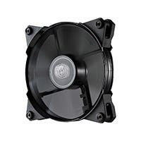 Cooler Master JetFlo 120 - POM Bearing 120mm High Performance Silent Fan for Computer Cases, CPU Coolers, and Radiators (Black) - 160,000 hour lifespan, POM Bearing, 120x120x25 mm, PWM, (open box)