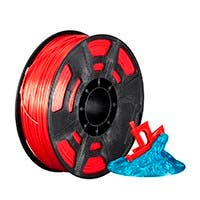 Monoprice Hi-Gloss 3D Printer Filament PLA 1.75mm 1kg/spool, Red