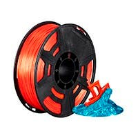 Monoprice Hi-Gloss 3D Printer Filament PLA 1.75mm 1kg/spool, Orange Red