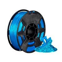 Monoprice Hi-Gloss 3D Printer Filament PLA 1.75mm 1kg/spool, Light Blue
