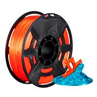 Monoprice Hi-Gloss 3D Printer Filament PLA 1.75mm 1kg/spool, Orange