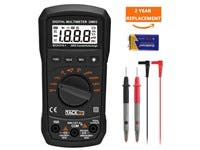 Multimeter,TACKLIFE DM03 Auto Ranging Multi Tester, Measures AC & DC Voltage and Current, Frequency