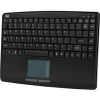 Adesso AKB-410UB Slim Touch Mini Keyboard with Built in Touchpad - USB - 88 Keys - Black