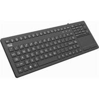 Adesso AKB-270UB Antimicrobial Waterproof Touchpad Keyboard - Cable Connectivity - USB Interface - 108 Key - English (US) - TouchPad - Compatible with PC, Mac, iOS - Home, Email, Back, Forward, Play/P