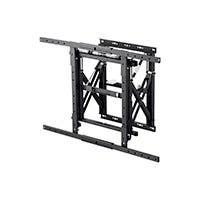 Monoprice Entegrade Series Modular Video Wall System Bracket with Push-to-Pop-Out - For TVs 40in to 70in, Max Weight 110lbs, VESA Patterns Up to 900x600, Security Brackets, UL Certified (Open Box)