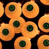 Monoprice 10 Count Eyeball Halloween String Light Green 11.5 ft (Open Box)