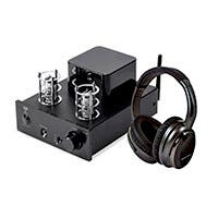 Monoprice Stereo Tube Headphone Amp with USB DAC and Noise Cancelling Headphones (Open Box)