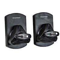 Monoprice Low Profile 22 lb. Capacity Speaker Wall Mount Brackets (Pair), Black (Open Box)