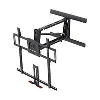 Monoprice Above Fireplace Pull-Down Full-Motion Articulating TV Wall Mount Bracket For TVs 55in to 100in, Max Weight 154lbs, VESA Patterns Up to 800x600, Rotating, Height Adjustable (Open Box)