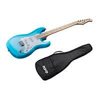 Monoprice Indio Cali Classic Electric Guitar with Gig Bag, Blue Burst (Open Box)