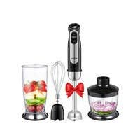 Aicok 4-in-1 Hand Blender, 5 Speed Control, Include Chopper, Whisk, No BPA Beaker (800ML), Stainless Steel - Black