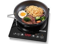 Portable Induction Cooktop, Ultra-Thin Design Rapid Heat Technology, Digital Counter top Burner (refurbished)