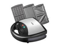 Aicok Sandwich Maker, Waffle Maker, Sandwich Toaster, 800-Watts, 3-in-1 Detachable Non-stick Coating (refurbished)
