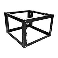 6U 800mm Adjustable Wall Mount Server Cabinet with 1U Supporting Tray - GSA Approved