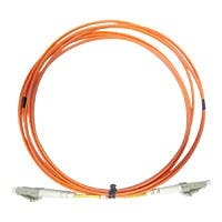 Monoprice OM2 Fiber Optic Cable - LC/LC, 50/125 Type, Multi-Mode, Duplex, Orange, 2m