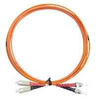 Monoprice OM1 Fiber Optic Cable - SC/ST, 62.5/125 Type, Multi-Mode, Duplex, Orange, 1m