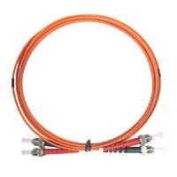 Monoprice OM1 Fiber Optic Cable - ST/ST, 62.5/125 Type, Multi-Mode, Duplex, Orange, 2m