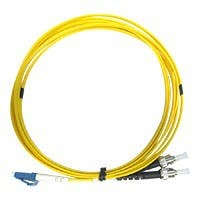 Monoprice Single Mode Fiber Optic Cable - LC/ST, 9/125 Type, Duplex, Yellow, 1m