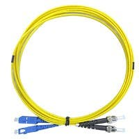 Monoprice Single Mode Fiber Optic Cable - SC/ST, 9/125 Type, Duplex, Yellow, 1m