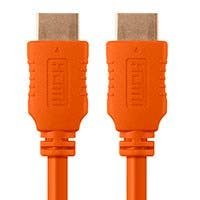Monoprice Select Series High Speed HDMI Cable - 4K @ 60hz HDR 18Gbps YUV 4:4:4 28AWG  1.5ft  Orange